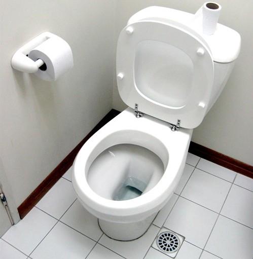 Clean public restroom after restoration